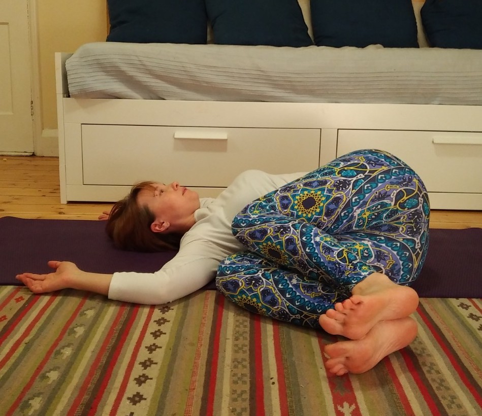 Lying down spinal twist